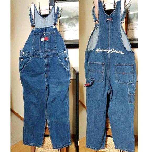 best online discount coupon choose latest Vintage 90s Tommy Hilfiger Carpenter Bib Overalls